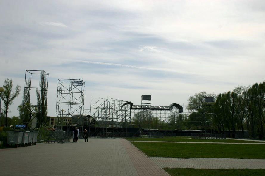 ФОТОФАКТ: Запорожье в ожидании зрелищ: на «Радуге» идут подготовки к концерту, фото-1