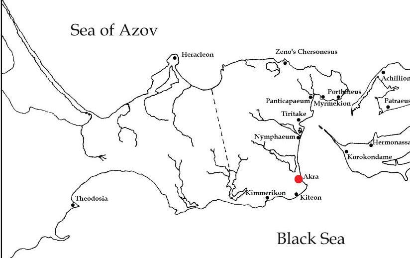 карта Крыма и Акра на ней