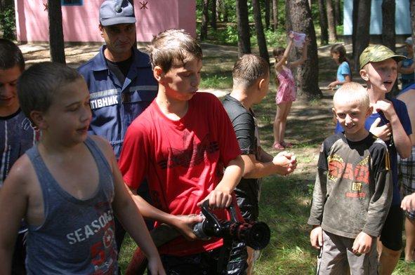 В рамках акции «Безопасный отдых» спасатели посетили лагерь «Орленок» (фото) (фото) - фото 4
