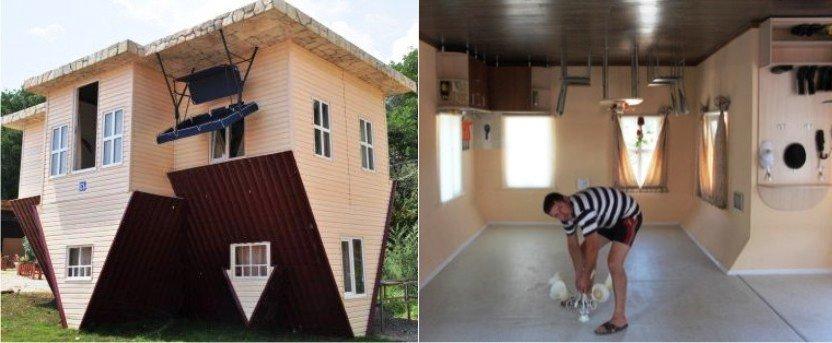 дом вверх ногами ялта