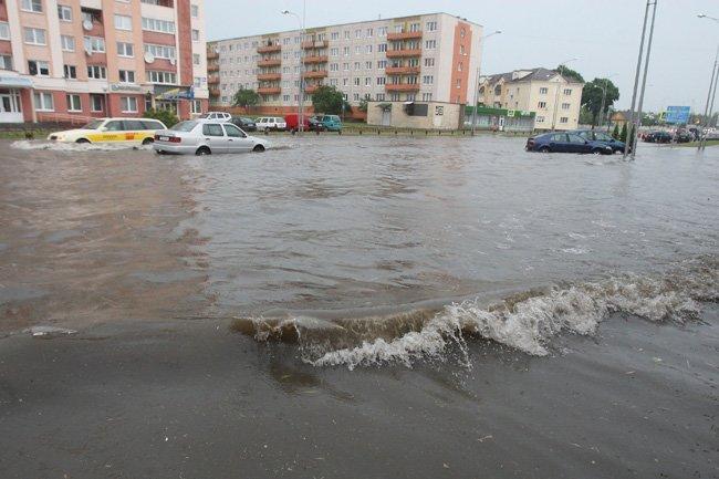ул. Белуша дождь 2