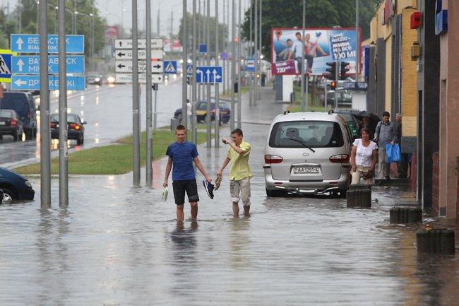 ул. Белуша дождь