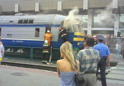 В гродно горел поезд дизель 015.by блог с13