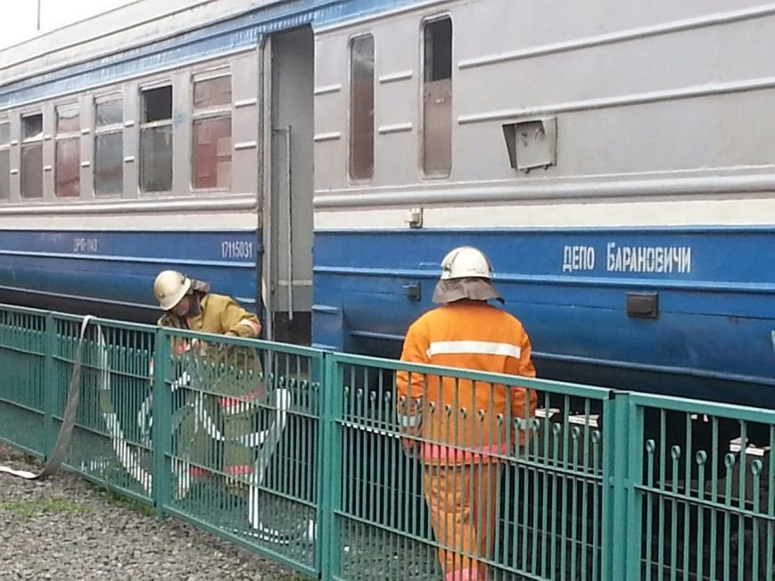 В гродно горел поезд дизель 015.by
