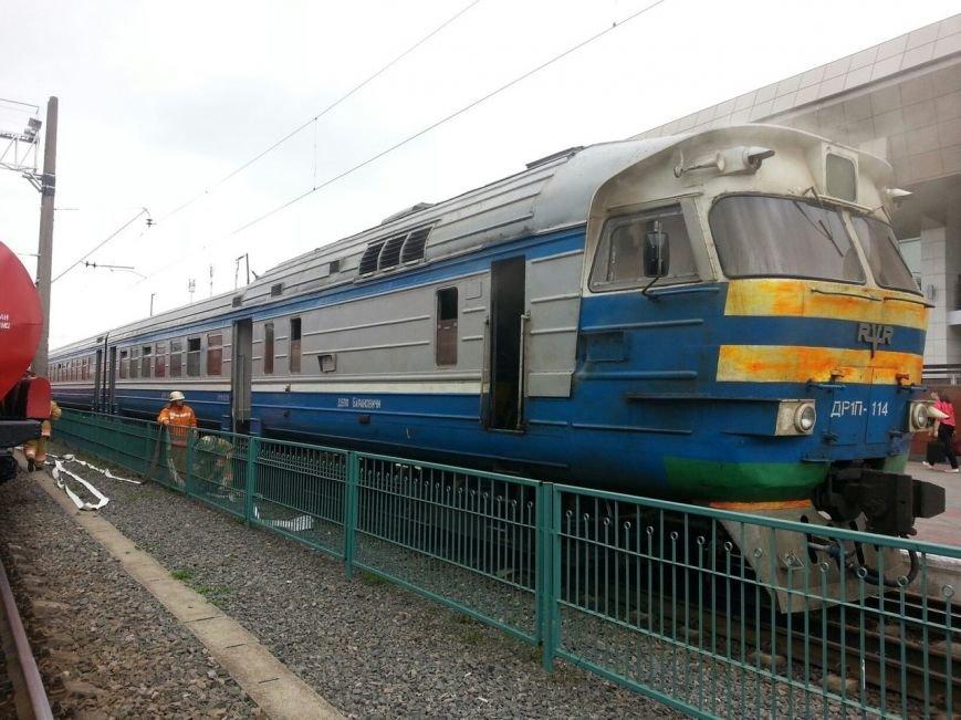 Гродно горел поезд дизель 015.by