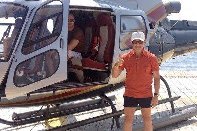 Кернес и вертолет