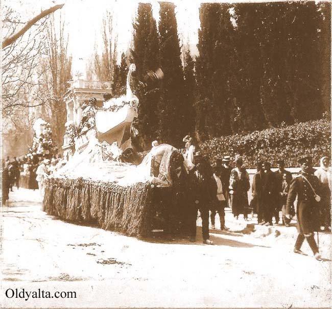 Карнавалъ на Пушкинскомъ бульваре