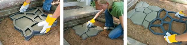Простой и красивый способ создания тротуарной плитки своими  руками (фото) - фото 3