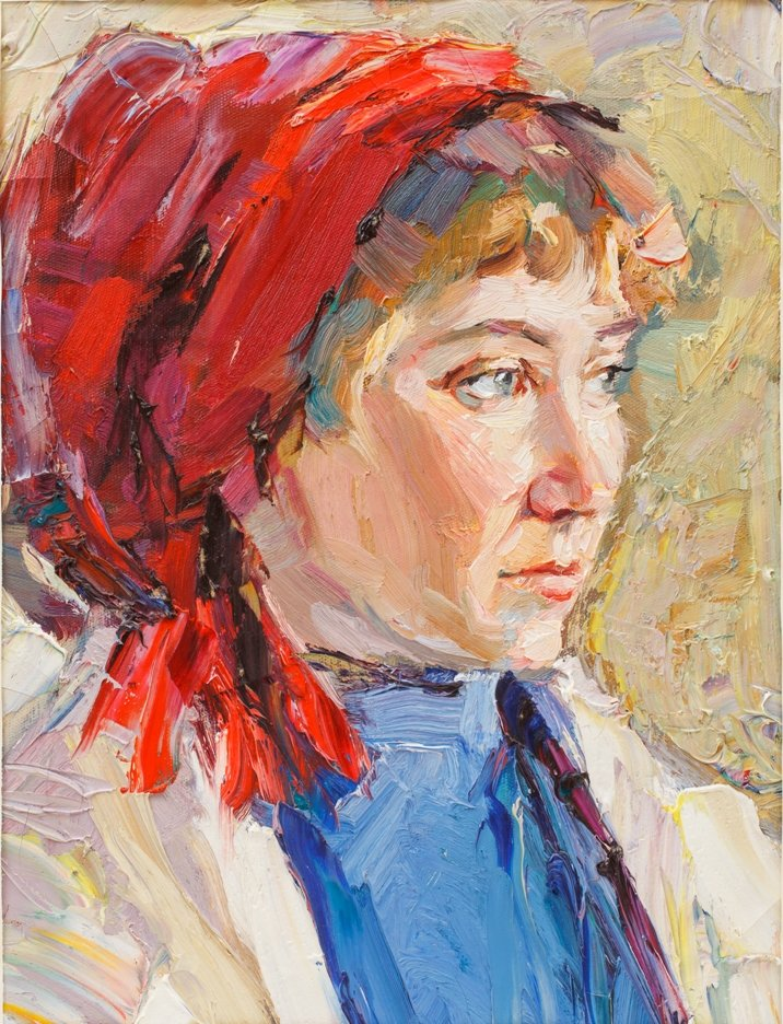 2_Б. Винтенко_Портрет девушки в красном платке