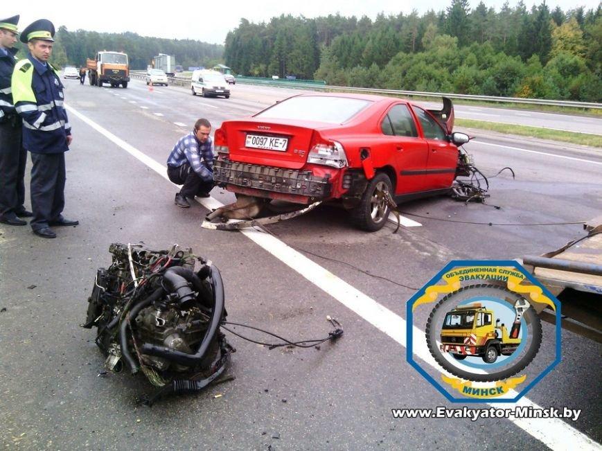20130924_Гродно_трасса м6 вырвало двигатель у вольво 13 сентября-1