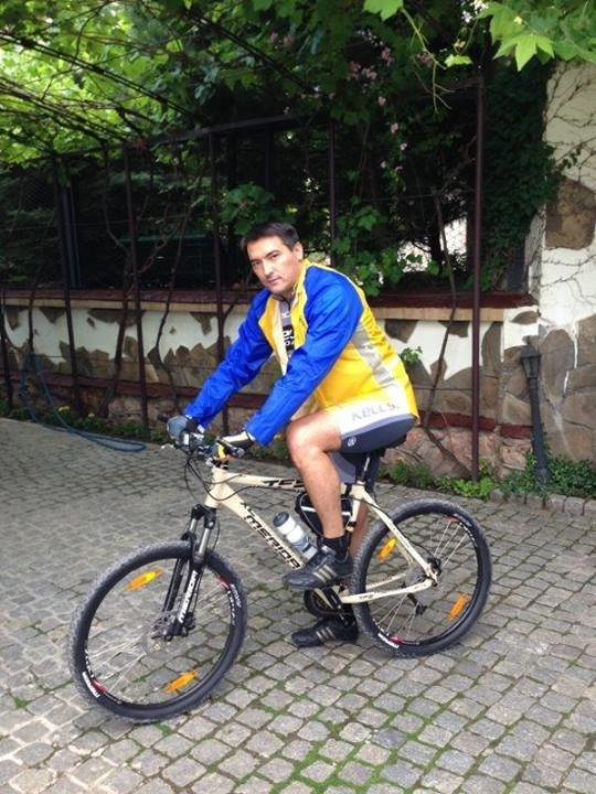 темиргалиев на велосипеде