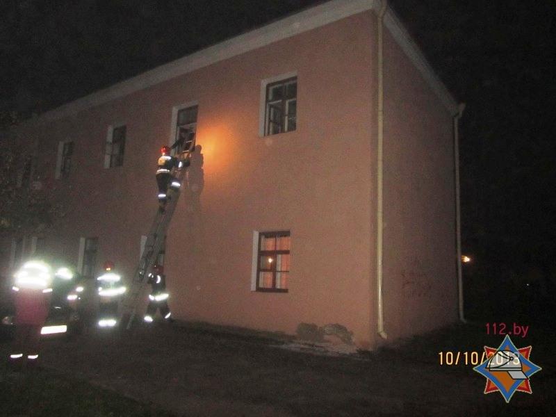 гродно пожар в центре 2