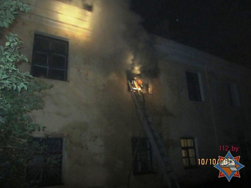 гродно пожар в центре 3