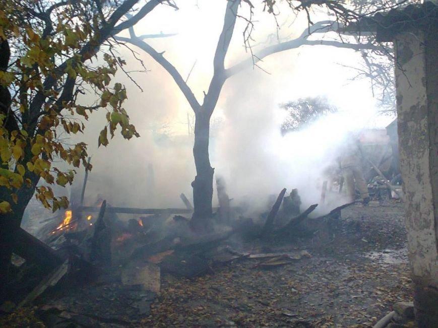 В Запорожской области пожар уничтожил сарай (ФОТО), фото-1
