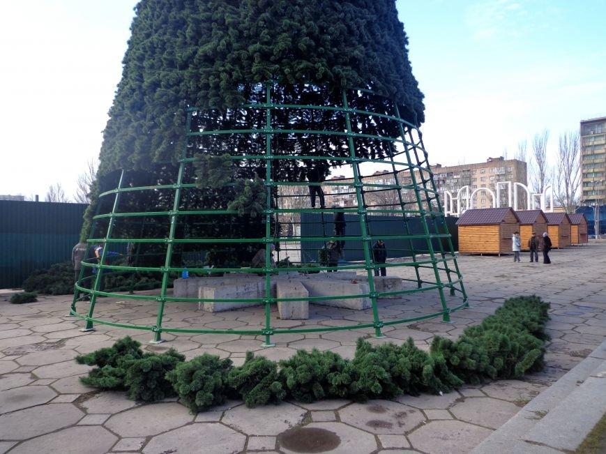 ФОТОФАКТ: В Запорожье монтируют и украшают центральную городскую ёлку, фото-1