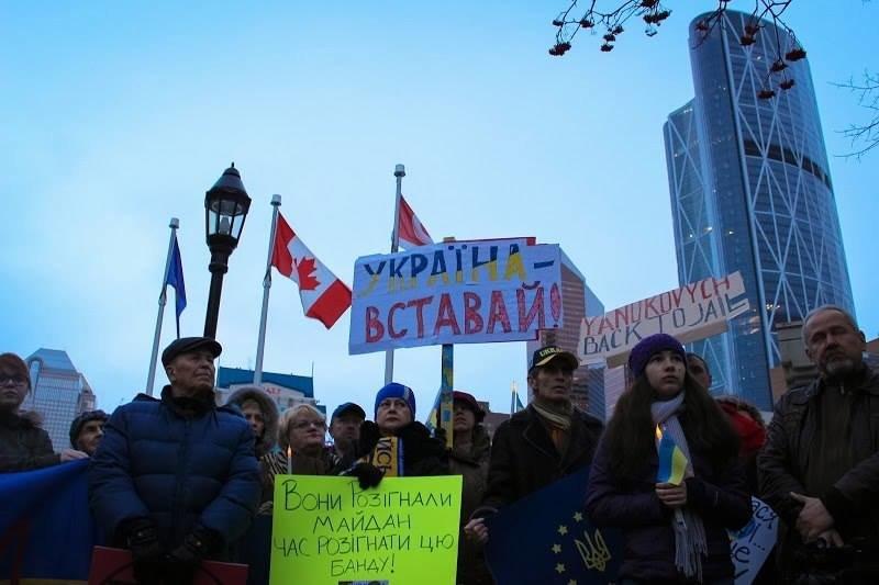 Українці в Канаді поставили хрест на Президенті (ФОТО), фото-3
