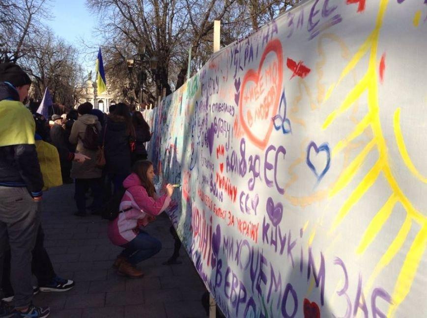 Львів'яни написали на 60м. тканини якою вони бачать Україну завтра (ФОТО), фото-7