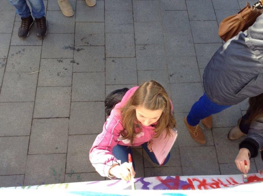 Львів'яни написали на 60м. тканини якою вони бачать Україну завтра (ФОТО), фото-8