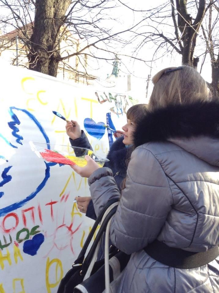 Львів'яни написали на 60м. тканини якою вони бачать Україну завтра (ФОТО), фото-6