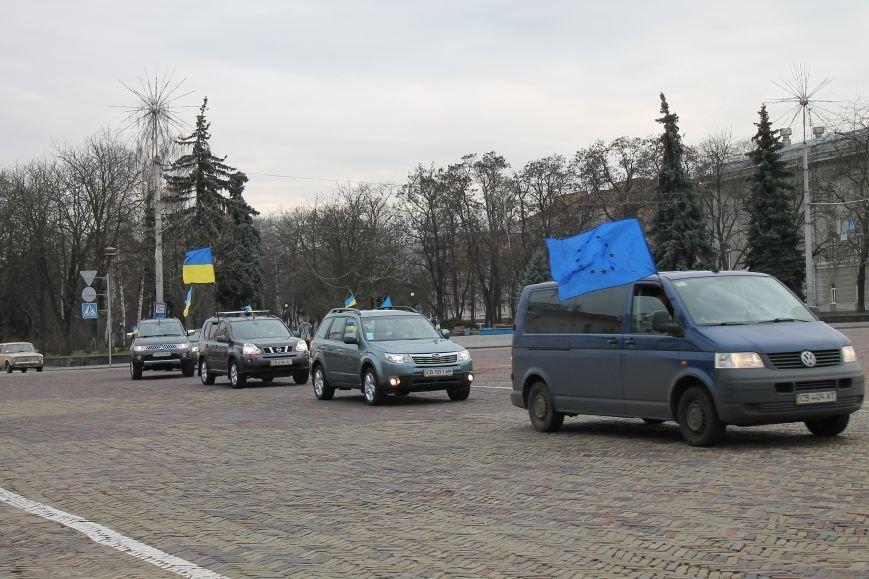 В Чернигове провели автопробег в поддержку требований Майдана, фото-1