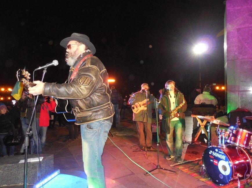 В поддержку «евромайдана» под памятником Шевченко выступили харьковские рокеры (фото, видео), фото-24