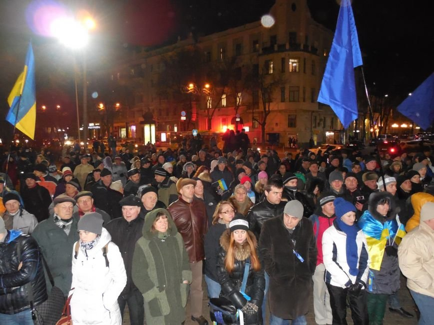 В поддержку «евромайдана» под памятником Шевченко выступили харьковские рокеры (фото, видео), фото-10