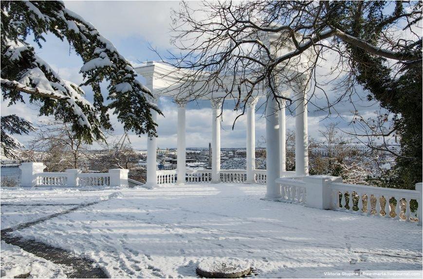 Солнечное утро после снегопада в Севастополе [фото], фото-2
