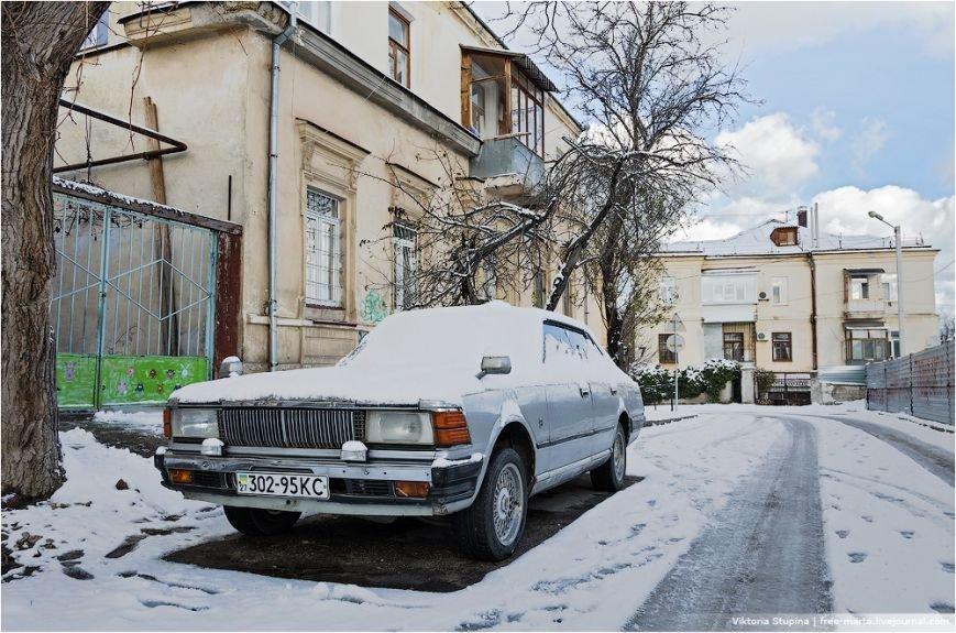 Солнечное утро после снегопада в Севастополе [фото], фото-4