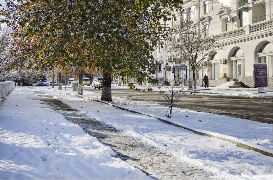 Солнечное утро после снегопада в Севастополе [фото], фото-3
