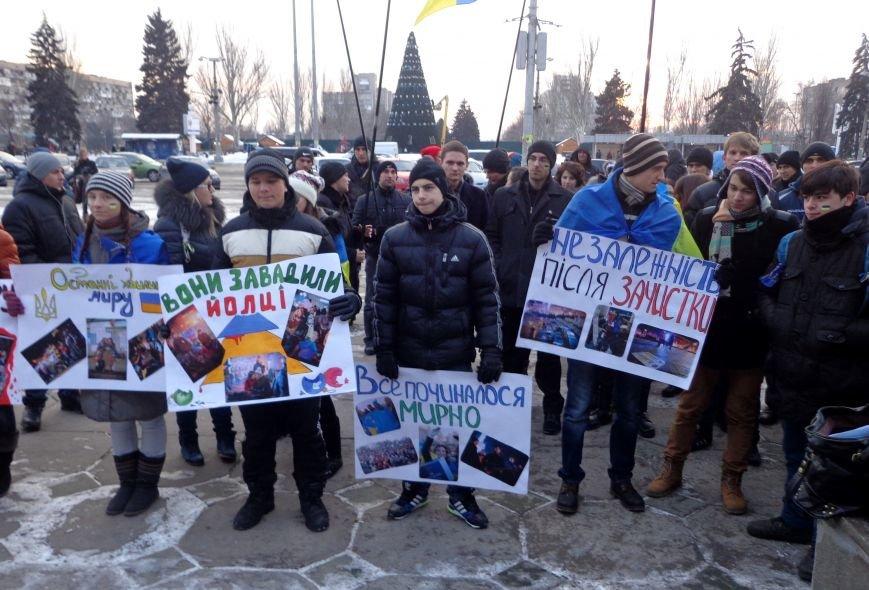 В Запорожье прошел студенческий митинг за справедливое расследование разгона киевского Майдана «Беркутом» (ФОТО), фото-6