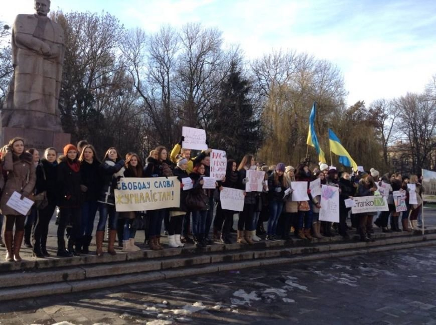 Львівські журналісти сьогодні мітингували: «Свободу слова і правду не диктують» (ФОТО), фото-6