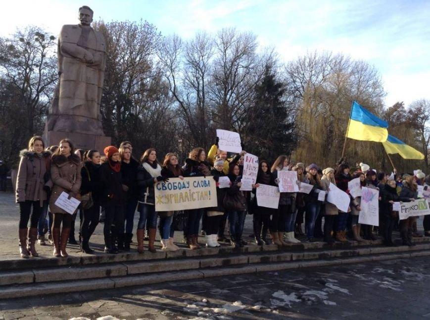 Львівські журналісти сьогодні мітингували: «Свободу слова і правду не диктують» (ФОТО), фото-5