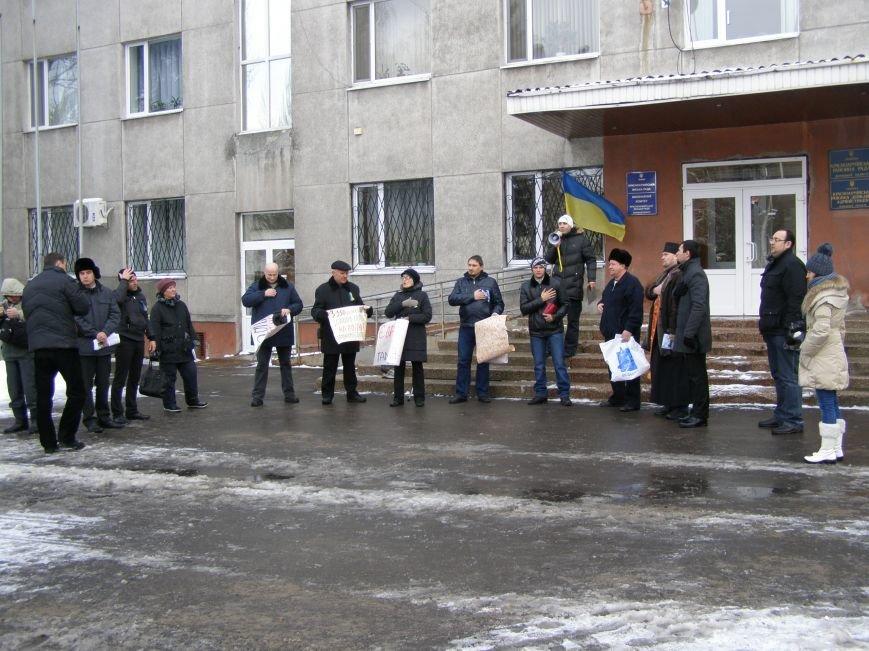 «Евромайдан» в Красноармейске собрал около 40 человек: кто пришел поддержать, а кто «просто посмотреть», фото-2