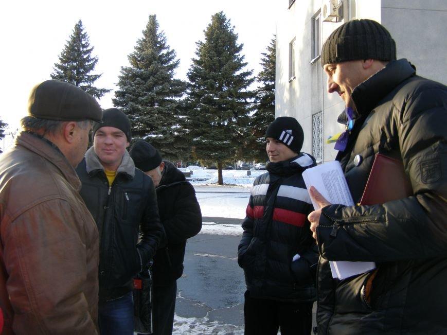 «Евромайдан» в Красноармейске собрал около 40 человек: кто пришел поддержать, а кто «просто посмотреть», фото-19
