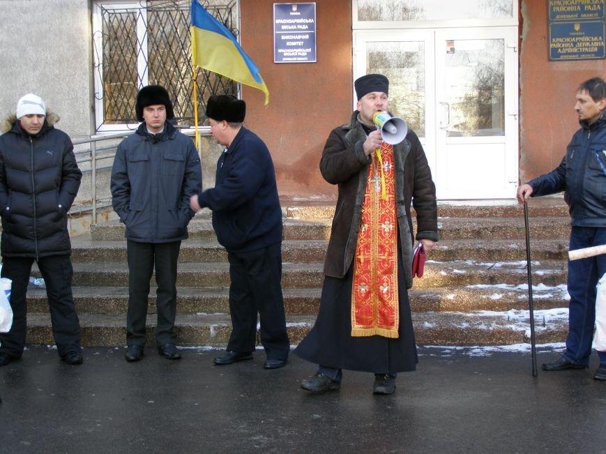 «Евромайдан» в Красноармейске собрал около 40 человек: кто пришел поддержать, а кто «просто посмотреть», фото-16