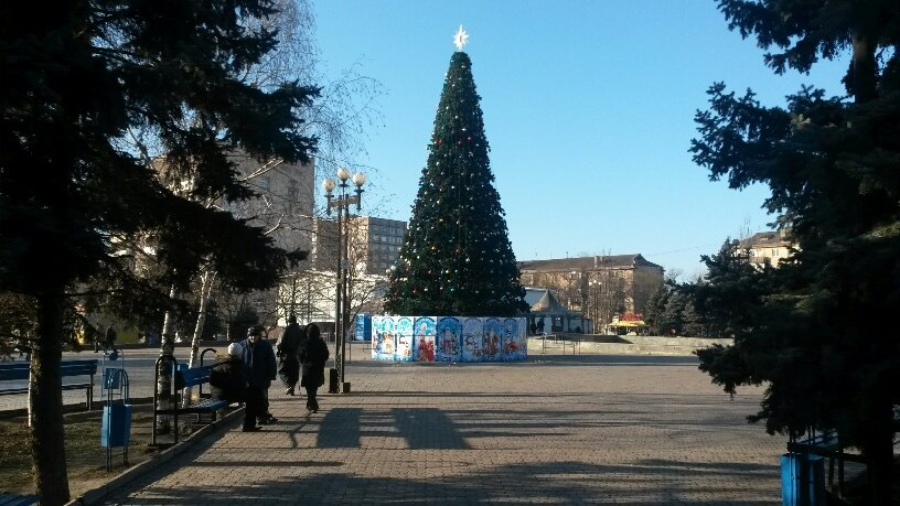 В Мариуполе установили районные елки (Фотофакт), фото-1