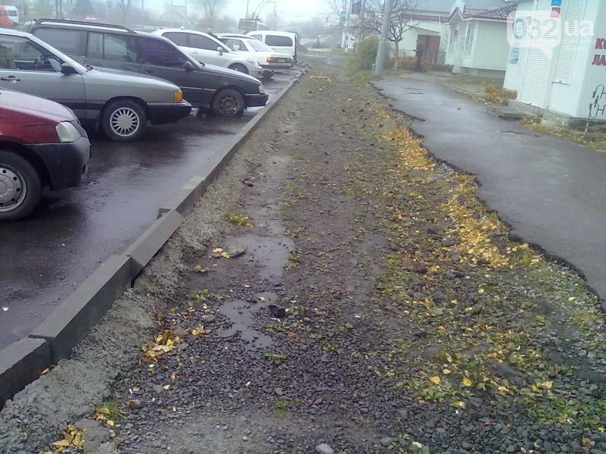 Львів'яни планують перекрити рух транспорту, якщо влада не відремонтує бордюри (ФОТО), фото-1