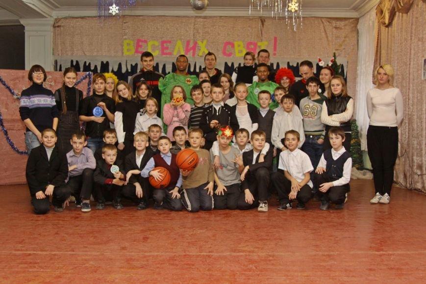 Дети школы-интерната №1 пообщались со звездами криворожского баскетбола, фото-7