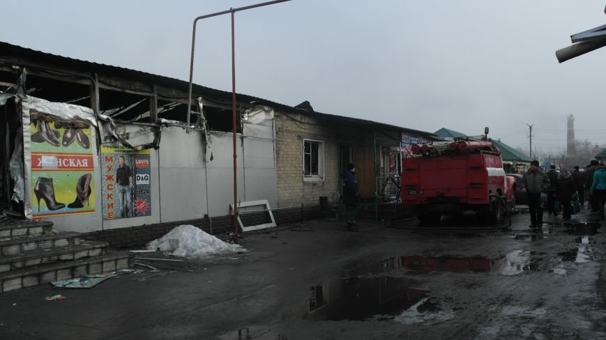 В Красноармейске на центральном рынке сгорел торговый павильон (ФОТО), фото-16