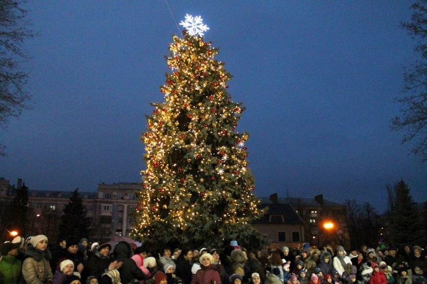 В Артемовске водили огромный хоровод вокруг главной городской елки (ВИДЕО), фото-4