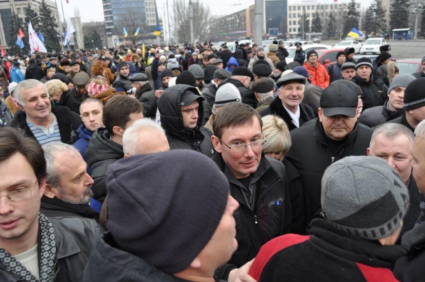 В Запорожье на ЕвроМайдане  выступил экс-министр МВД Юрий Луценко (ФОТО), фото-2