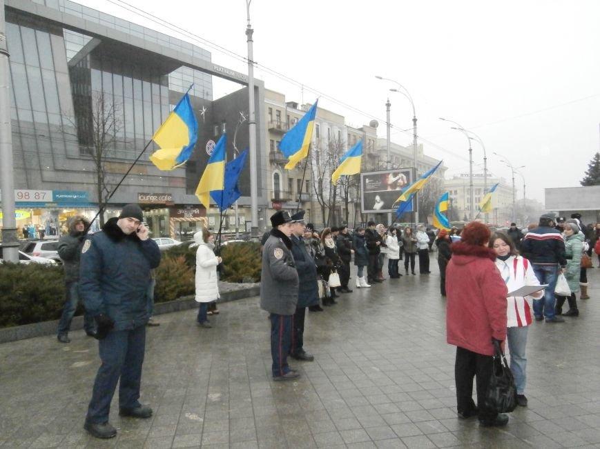 Харьковские «евромайдановцы» придумали новый перфоманс: вспомнили избиение митингующих в Киеве перебеганием тротуара (фото), фото-5