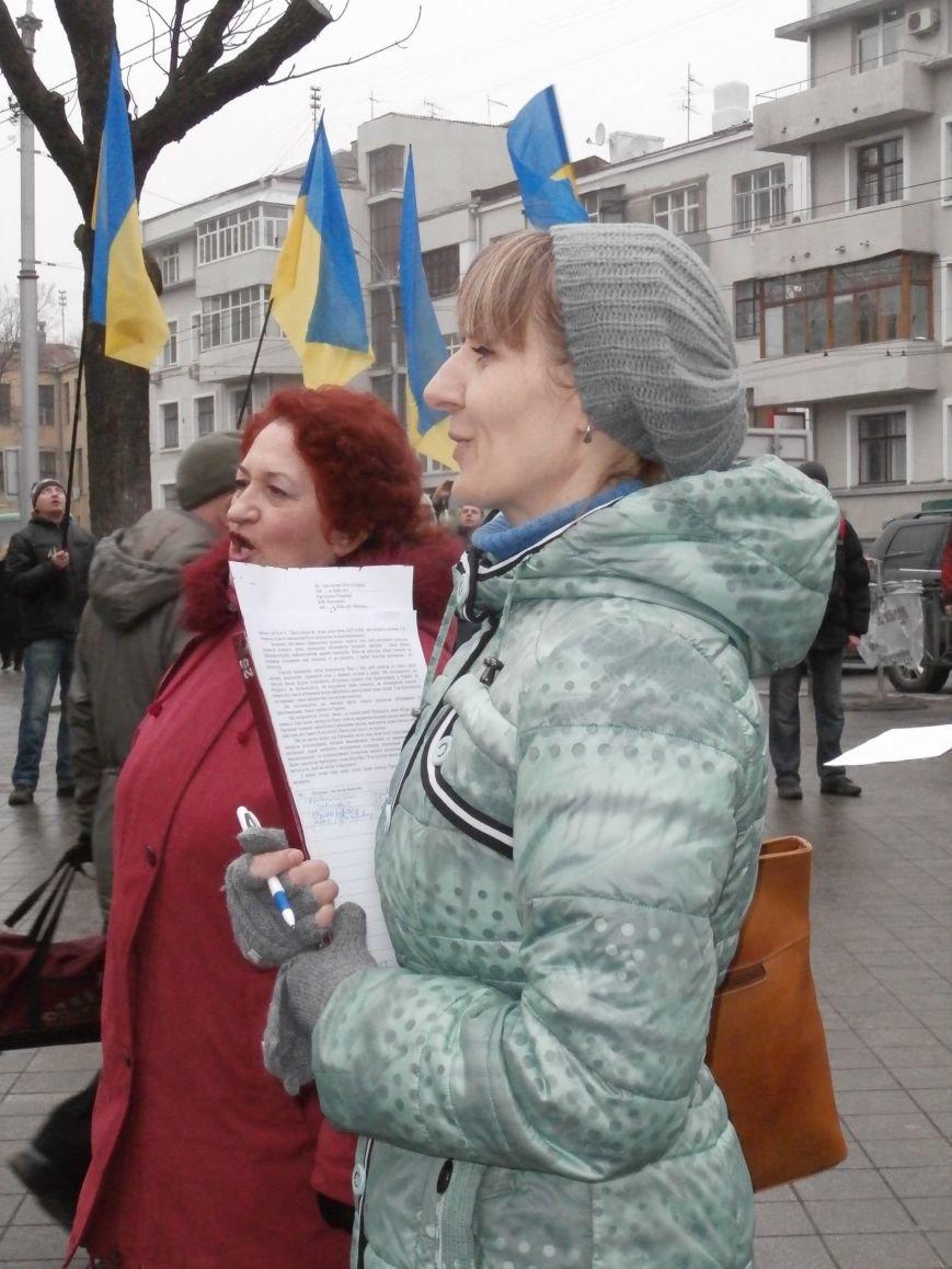 Харьковские «евромайдановцы» придумали новый перфоманс: вспомнили избиение митингующих в Киеве перебеганием тротуара (фото), фото-9