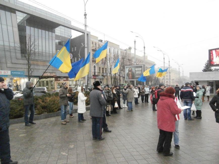 Харьковские «евромайдановцы» придумали новый перфоманс: вспомнили избиение митингующих в Киеве перебеганием тротуара (фото), фото-6