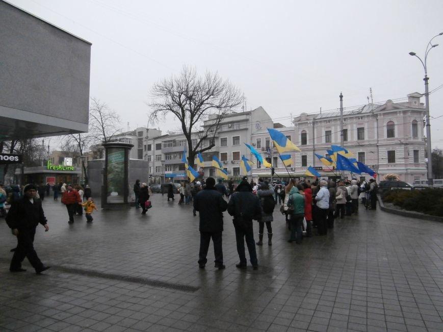 Харьковские «евромайдановцы» придумали новый перфоманс: вспомнили избиение митингующих в Киеве перебеганием тротуара (фото), фото-1