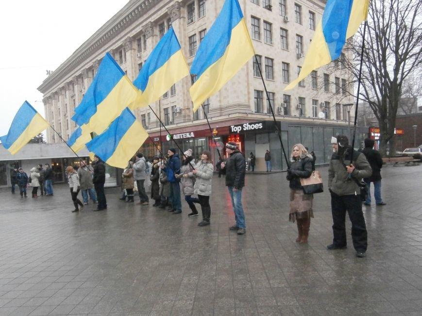 Харьковские «евромайдановцы» придумали новый перфоманс: вспомнили избиение митингующих в Киеве перебеганием тротуара (фото), фото-4