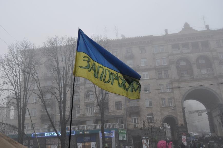 ФОТОРЕПОРТАЖ: Группа запорожцев отпраздновала новый год в «революционных» условиях на столичном Майдане, фото-5