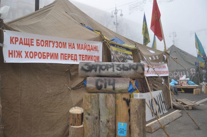 ФОТОРЕПОРТАЖ: Группа запорожцев отпраздновала новый год в «революционных» условиях на столичном Майдане, фото-2