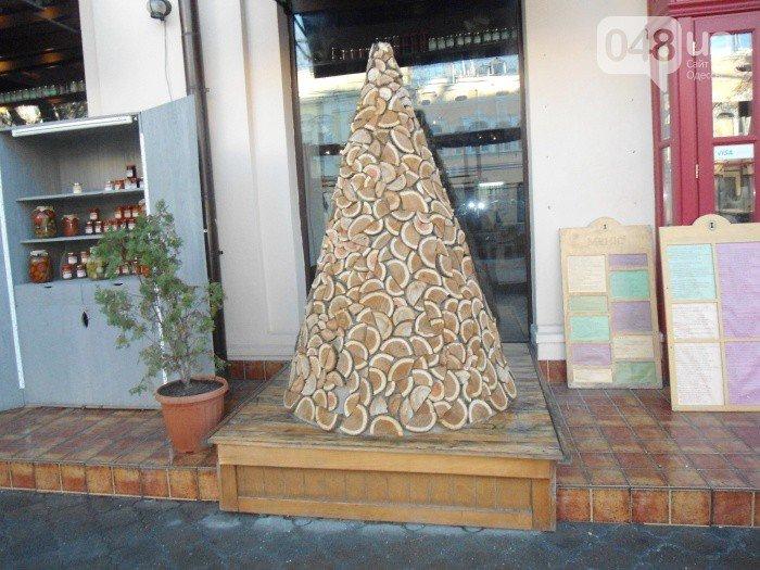 Одесса - елка из брусков