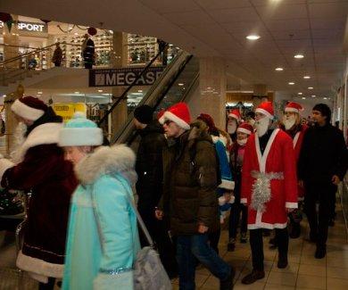 В Полтаве десятки Дедов Морозов и Снегурочек устроили парад (ФОТО), фото-2